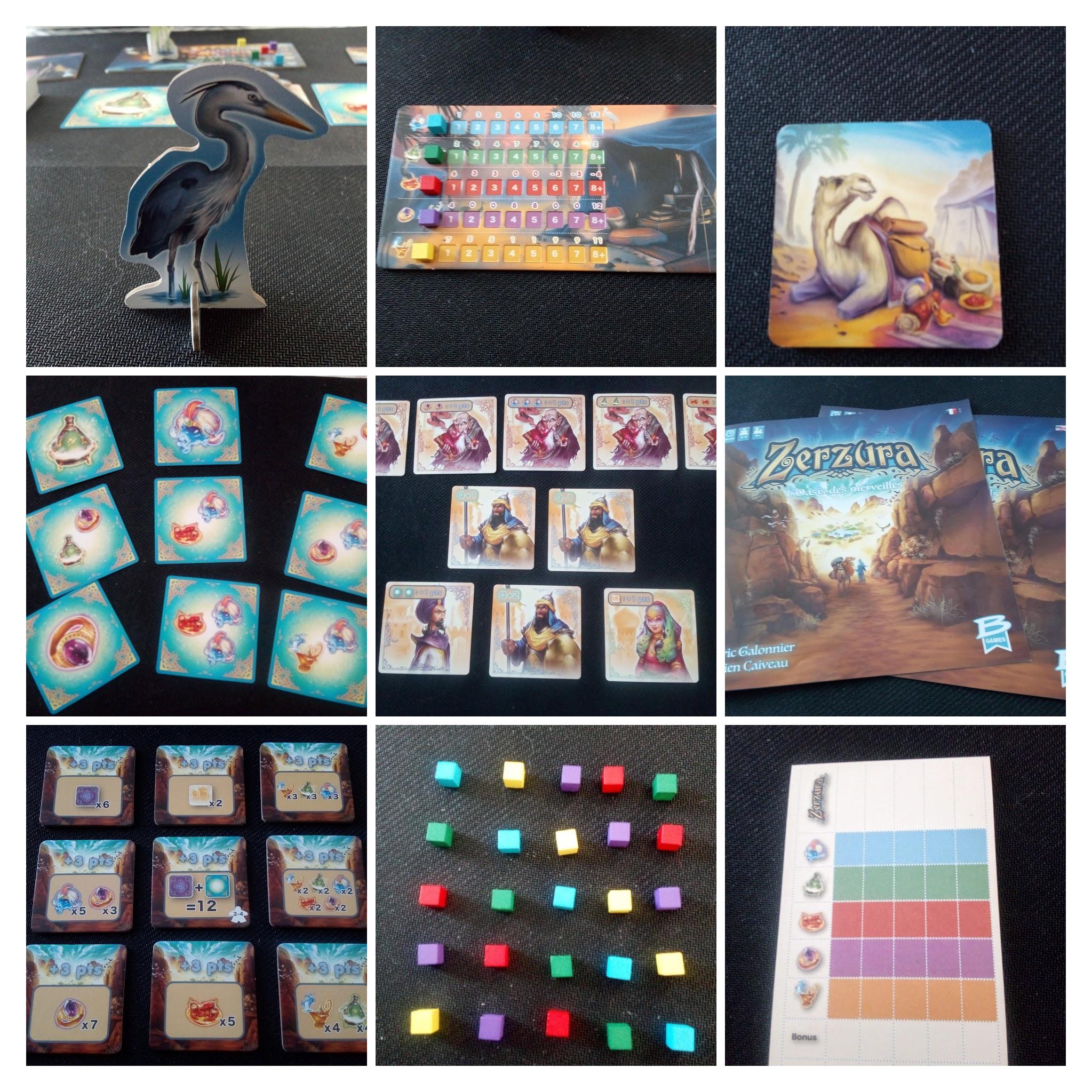 Le matériel de Zerzura, L'oasis des merveilles cadeau de Bragelonne game à Game of Flines. Jeux de société à partir de 8 ans